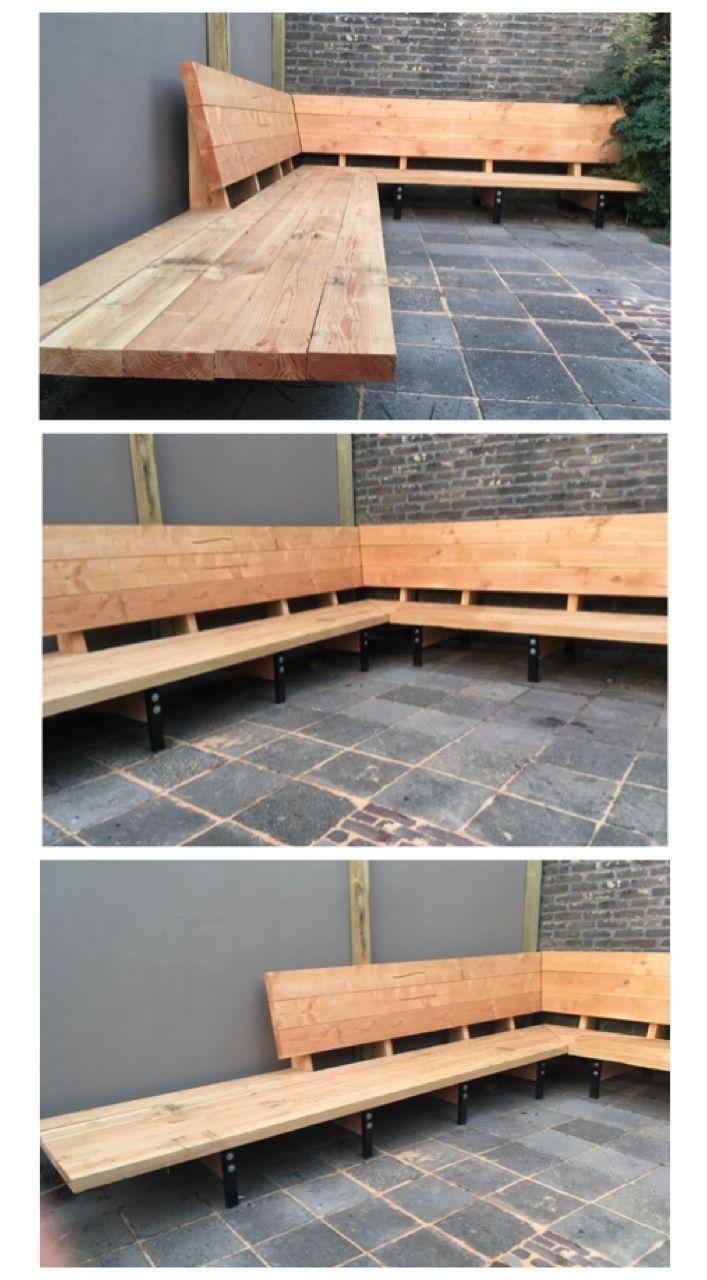 Lounge bench garden bench #gardenfurnitureideas #garden bench #lounge – #bank #garde …