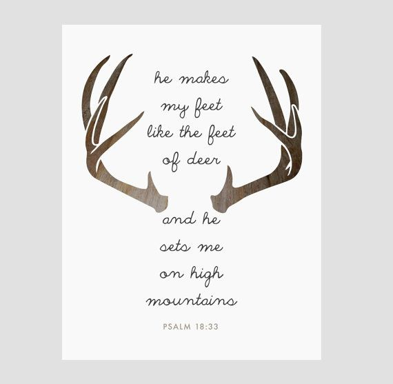 Instant download psalms quote deer antlers christian for Bible verses about fish