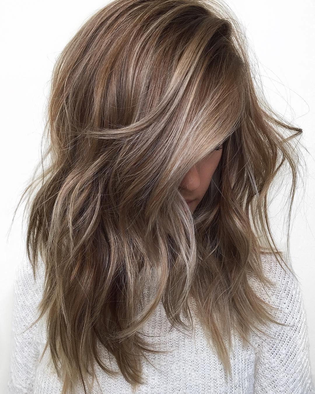 Trendy Hair Color Designs For Medium Length Hair Medium Hairstyle Ideas Dark Blonde Hair Color Hair Styles Long Hair Styles