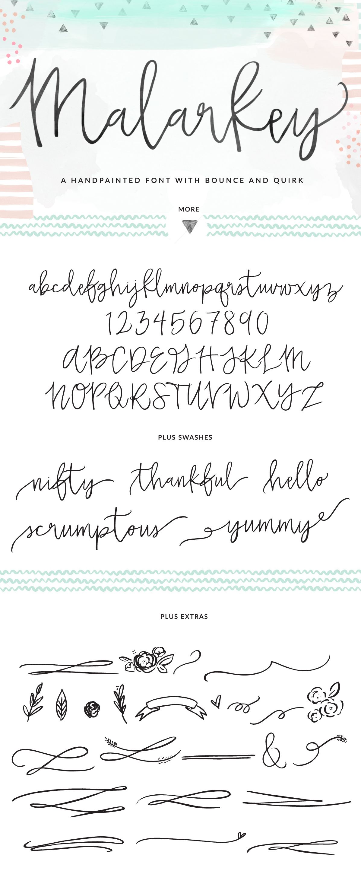 Malarkey font brushed calligraphy font fonts Handwriting calligraphy