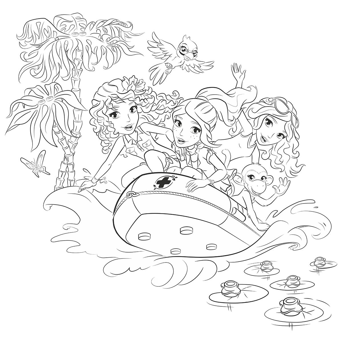 Printable coloring pages lego friends - Az Coloring Tons Of Free Coloring Pages