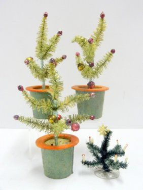 Four Small Feather Trees