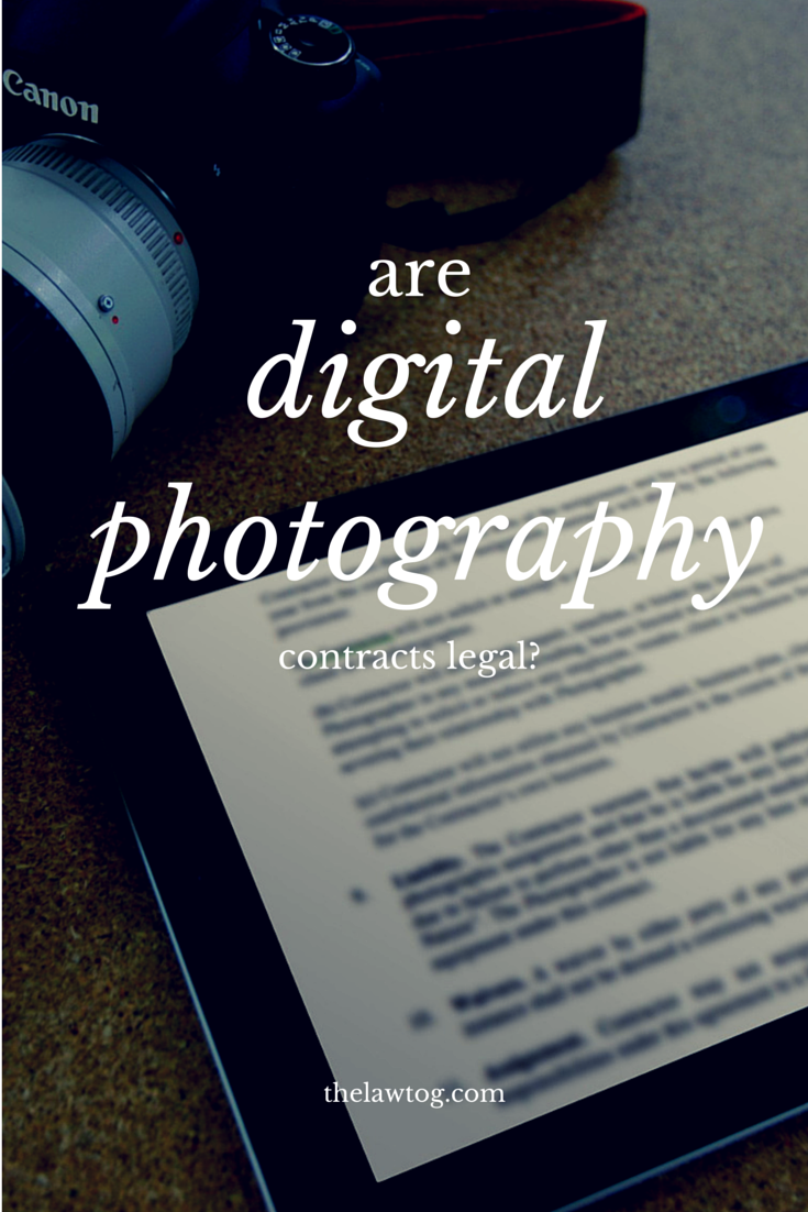 Are digital photography contracts even legal?