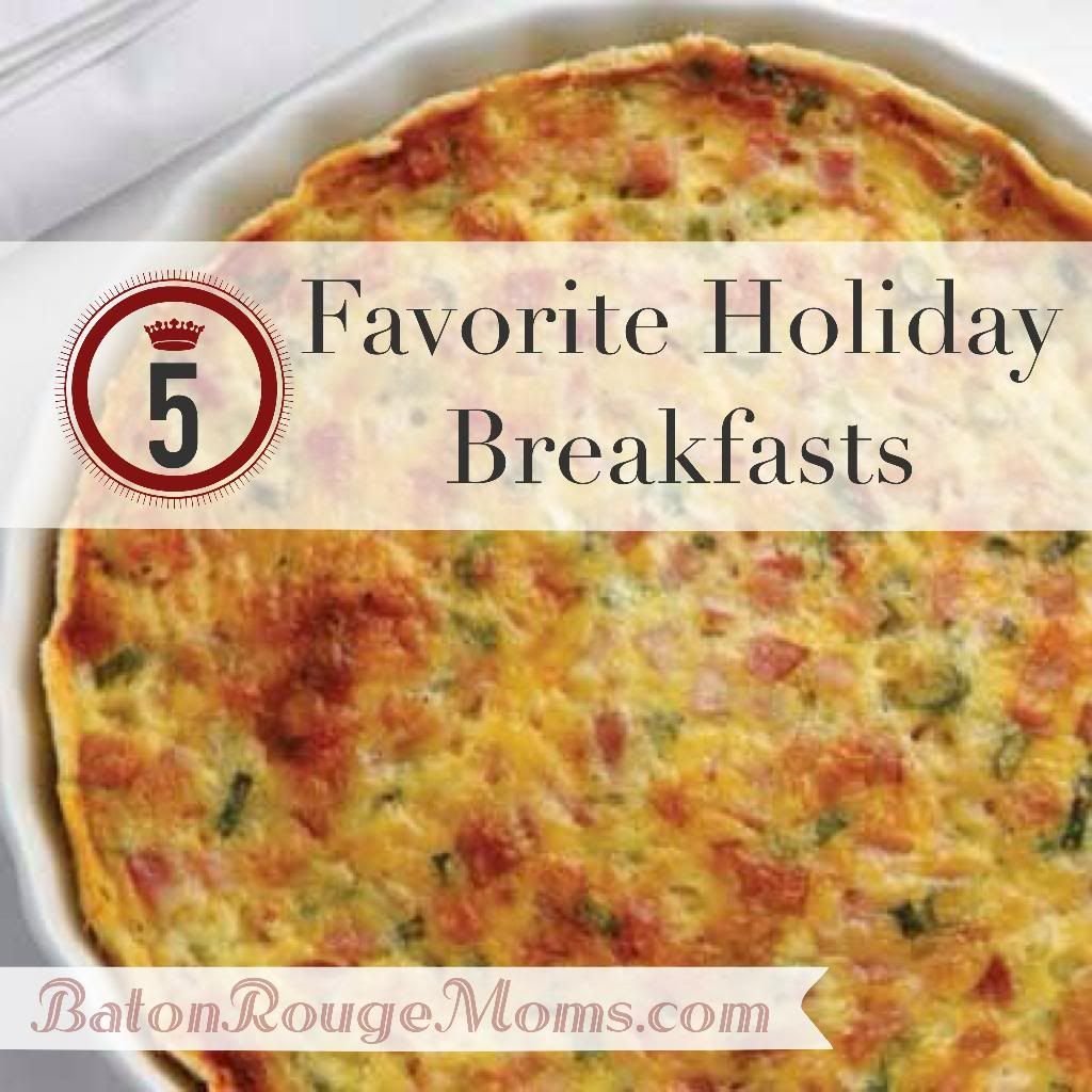 Five Favorite Holiday Breakfast Recipes