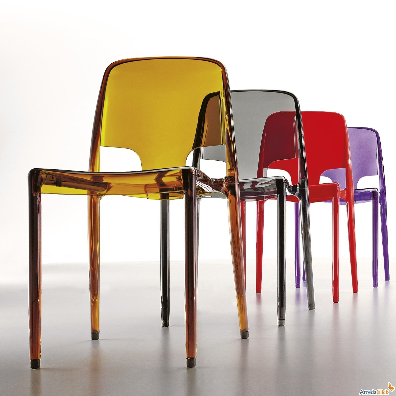 Chaises En Couleur Design Chaise Colorée Margot Par Infiniti Design En Plastique