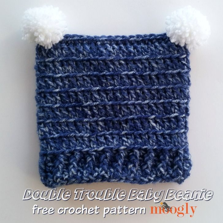 Double Trouble Baby Beanie - free crochet pattern on Mooglyblog.com ...