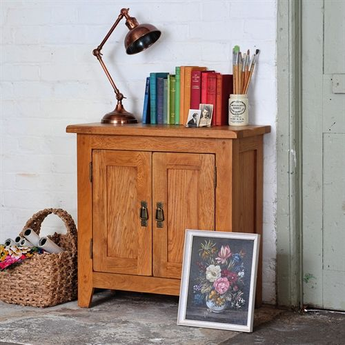 Oakland Small 2 Door Cupboard From The Cotswold Company Oak