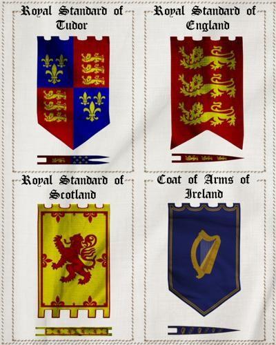 Merlin S Medieval Banners Props Scenes Architecture Middelalder Bogstaver Undervisning