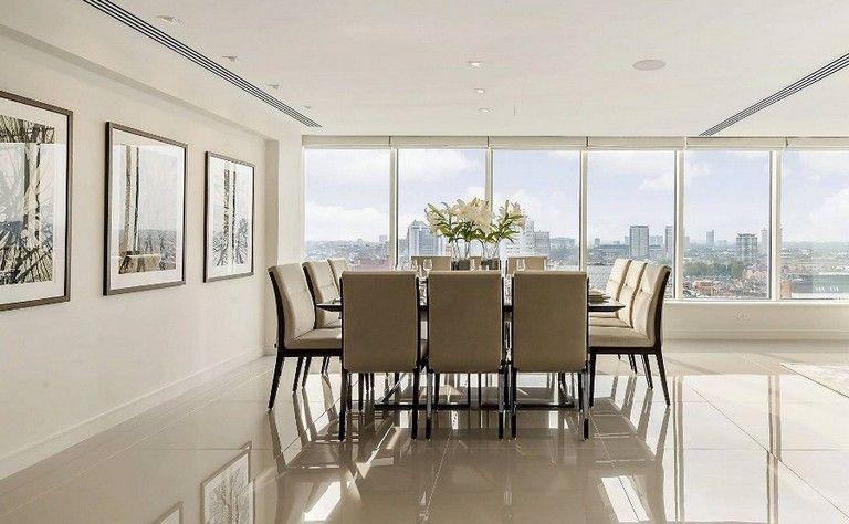 12 Lovely Modern Design Marylebone Apartment In London Tile Floor Living Room Porcelain Tile Floor Living Room House Flooring