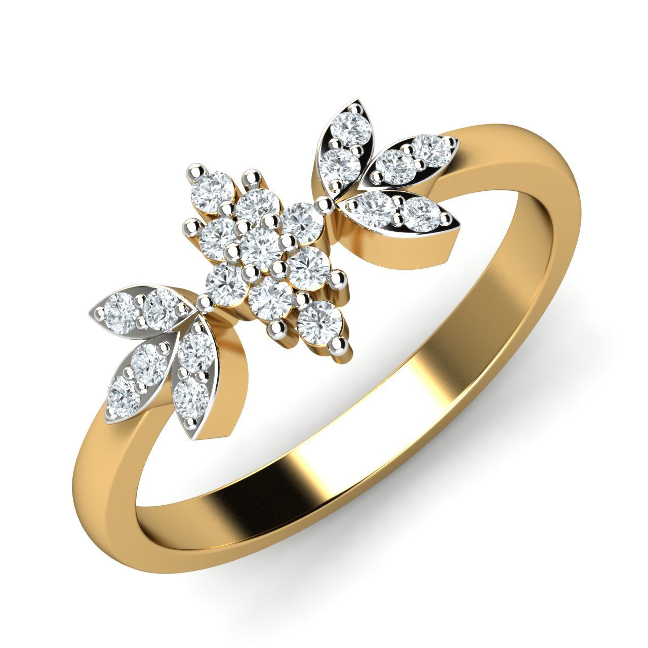 3f5ac246e83 Gold Diamond Rings Real Certified Diamond 0.28 Ct Party