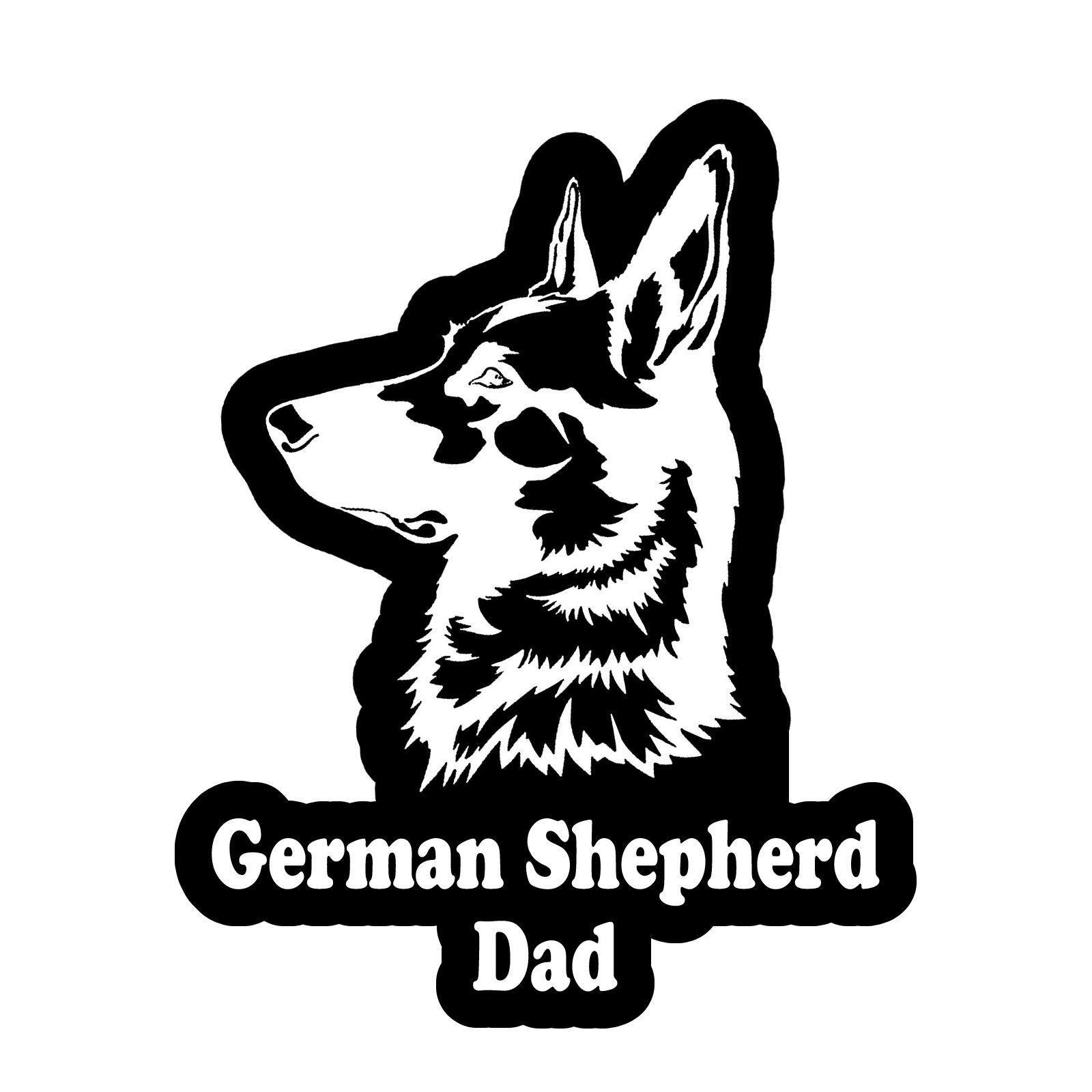 2 99 German Shepherd Dad Decal Sticker Car Window Bumper 4 Inches Fc3345 Ebay Home Garden Germanshepherd German Shepherd Shepherd German [ 1600 x 1600 Pixel ]