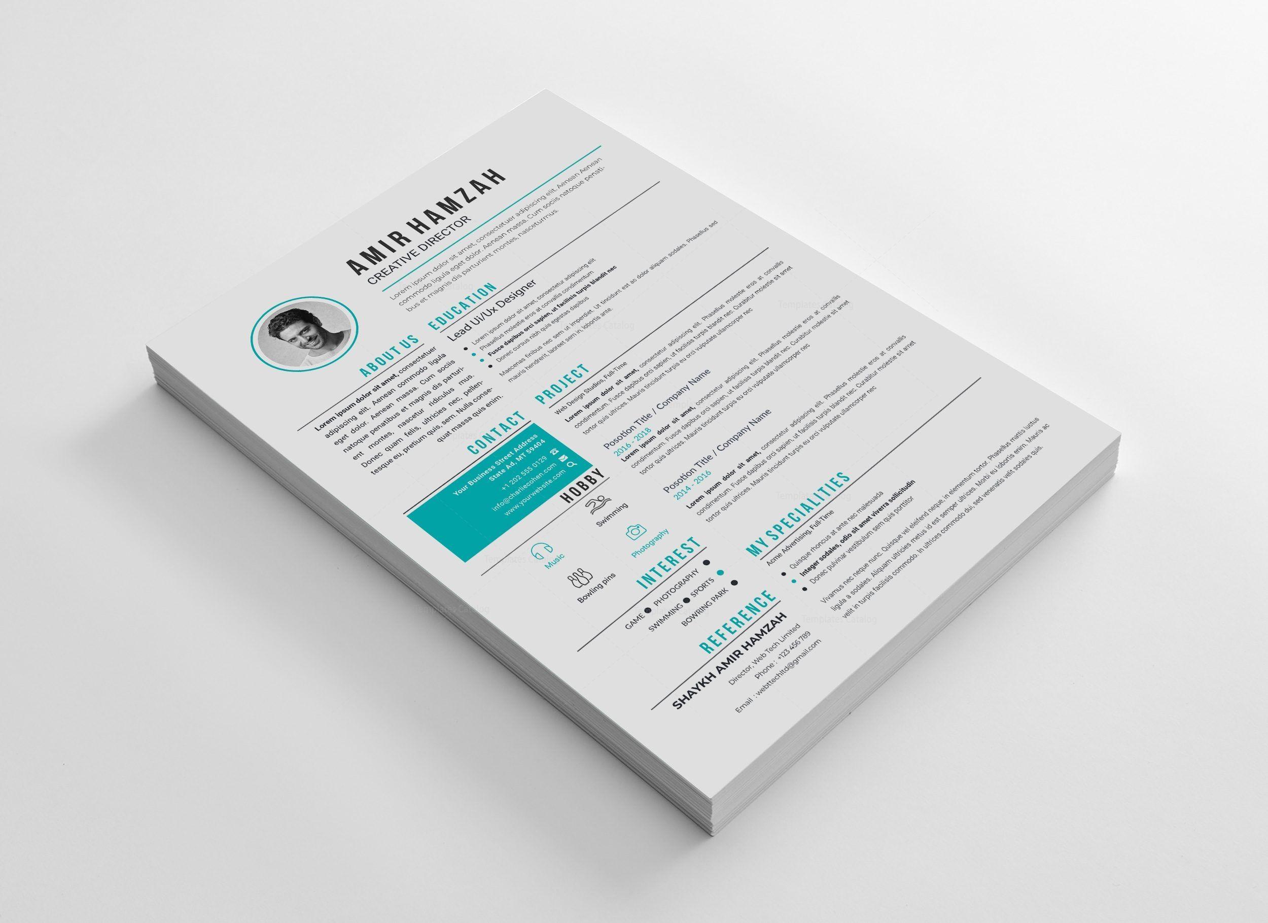 Eps creative cv template 003013 template catalog
