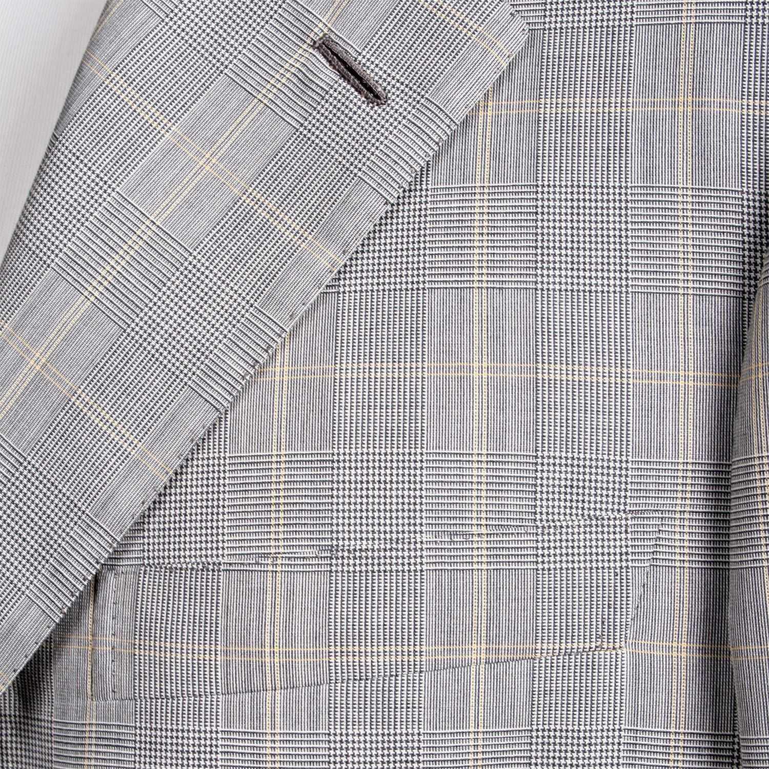 Super 170¡¯s Rolling 3 Button Check Suit // Gray #