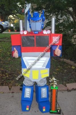 Homemade Transformer Kids Costume Idea My son really loves Transformers but all the costumes out & Coolest Homemade Transformer Kids Costume Idea | Pinterest ...