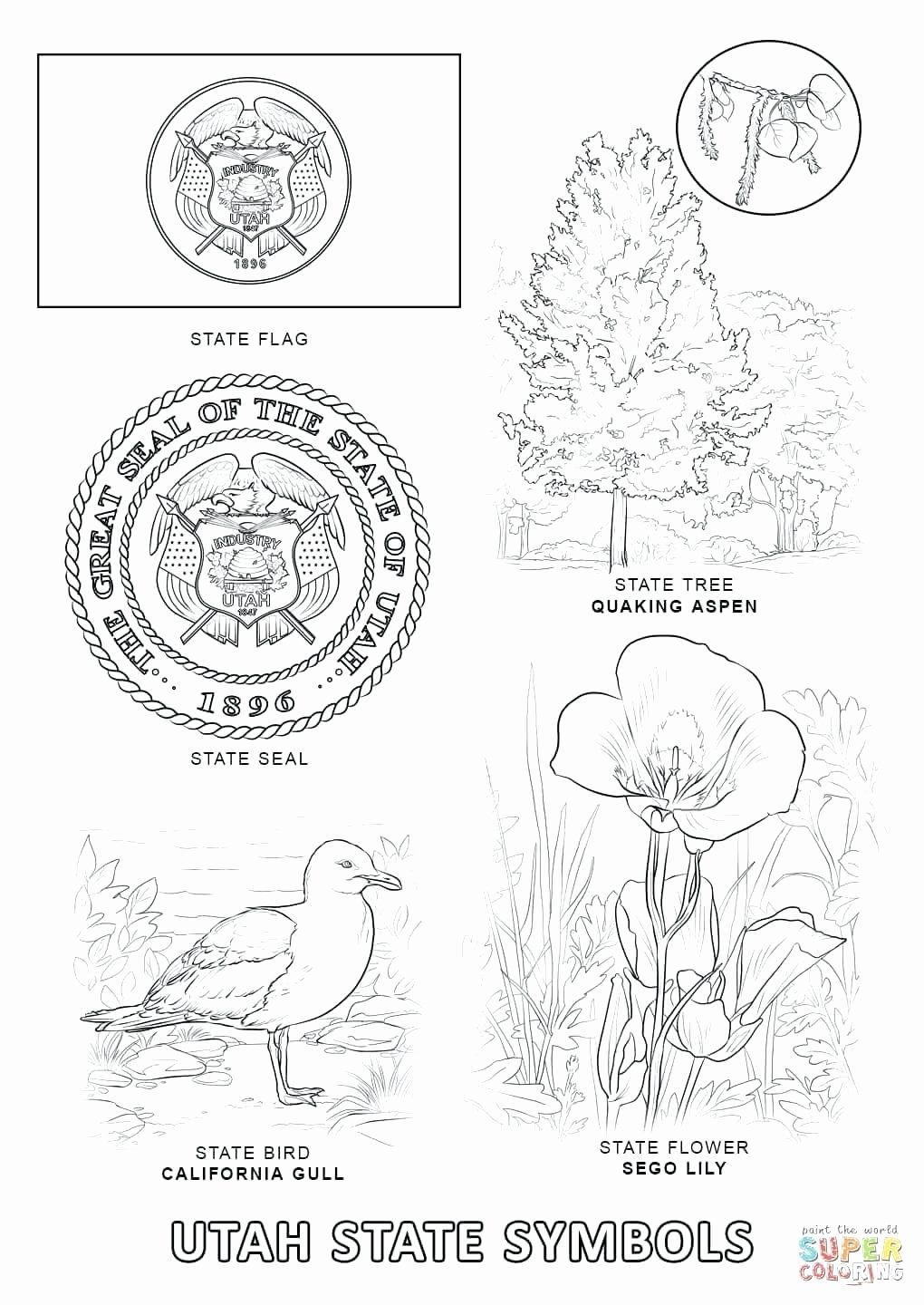Texas Symbols Coloring Pages Lovely California State