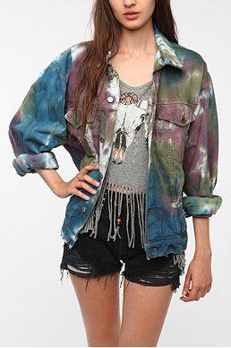 Urban Renewal Tie-Dye Denim Jacket