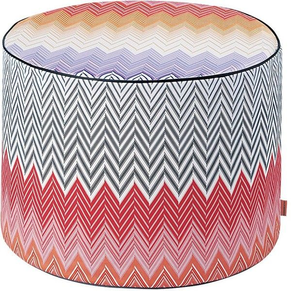 Missoni Home Sabaudia Pouf ($595) ❤ liked on Polyvore featuring ...