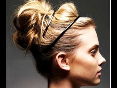 Miraculous On Trend Quick Messy Updo Bun Hannah Leigh Hair Pinterest Short Hairstyles For Black Women Fulllsitofus