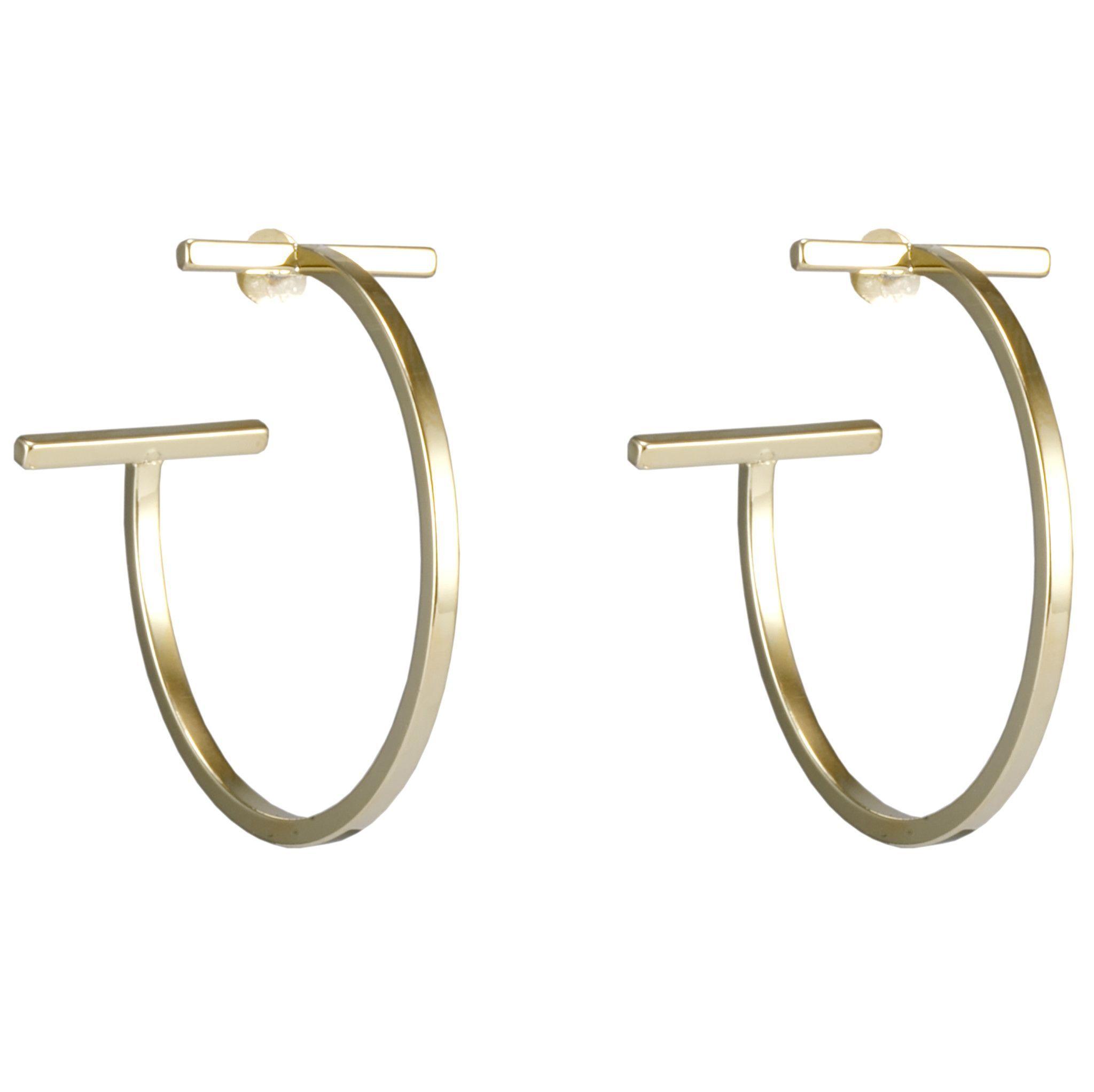 T Bar Hoop Earrings
