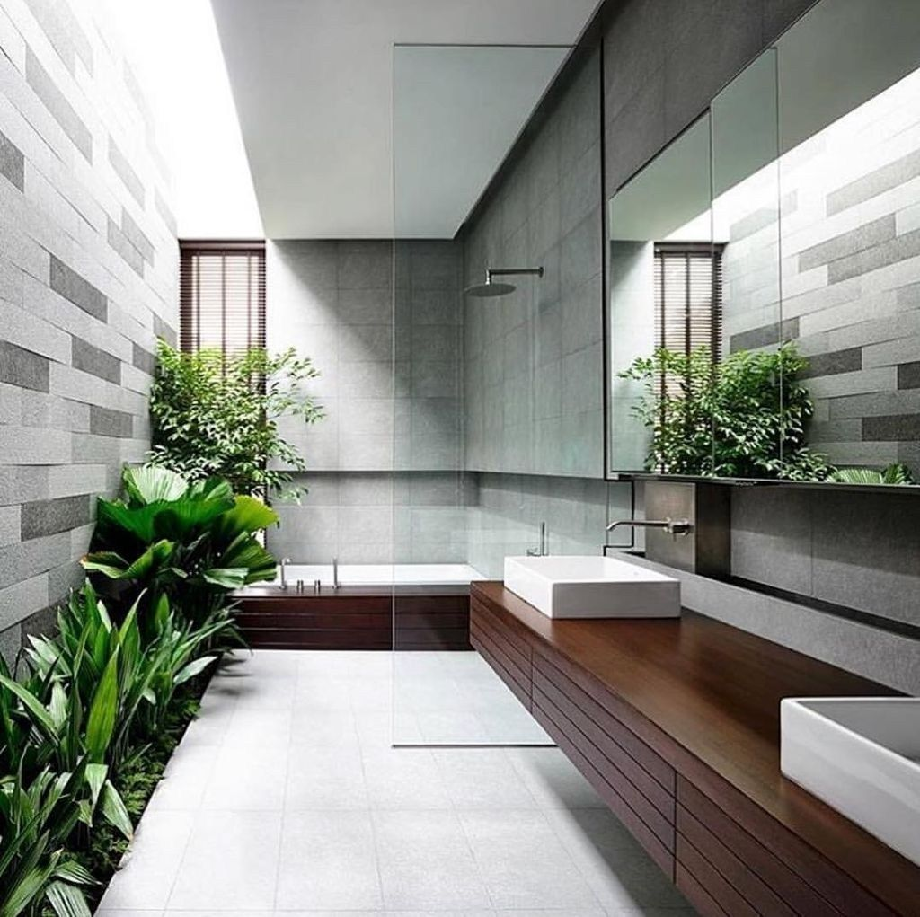 45 Trending 2019 Jungle Bathroom Design Home Design Minimalism Interior Minimal Interior Design Bathroom Design Trends