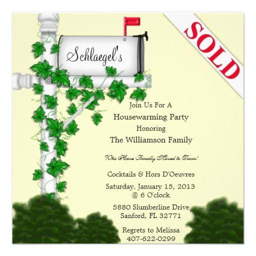 Elegant Housewarming Invitation House \ Home Pinterest - housewarming invitations templates