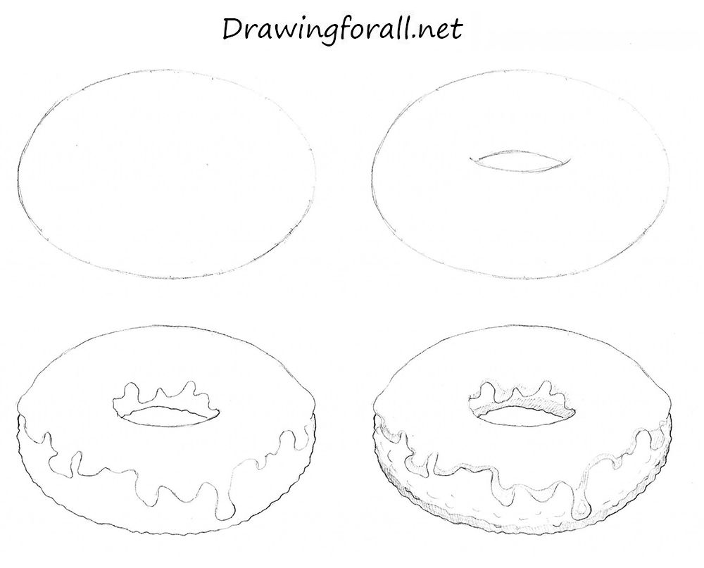 How to Draw a Donut http://www.drawingforall.net/how-to ...