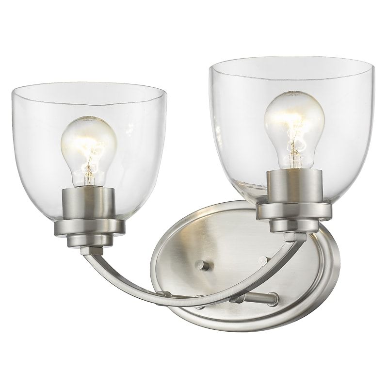 Photo of Z-Lite 460-2V Ashton 2 Light 15″ Wide Vanity Light with Clear Glass Shades Brushed Nickel Indoor Lighting Bathroom Fixtures Vanity Light