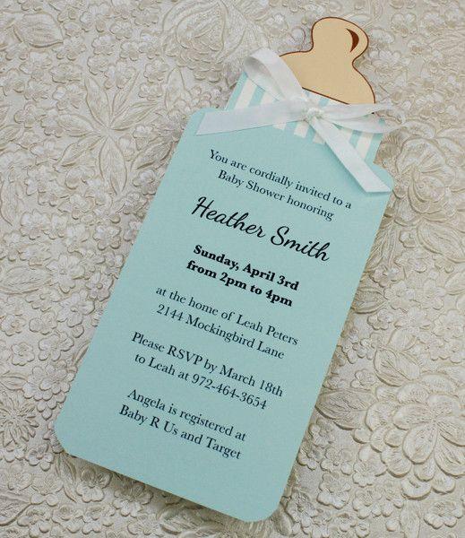 DIY Bottle Baby Shower invitation template for baby boy from - baby shower invite templates