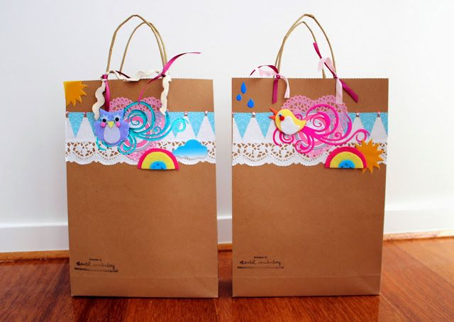 girls just wanna scrapbook: Twin Gift Bags! ;)