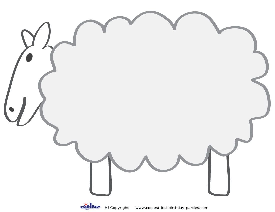 Sizzling image within sheep template printable