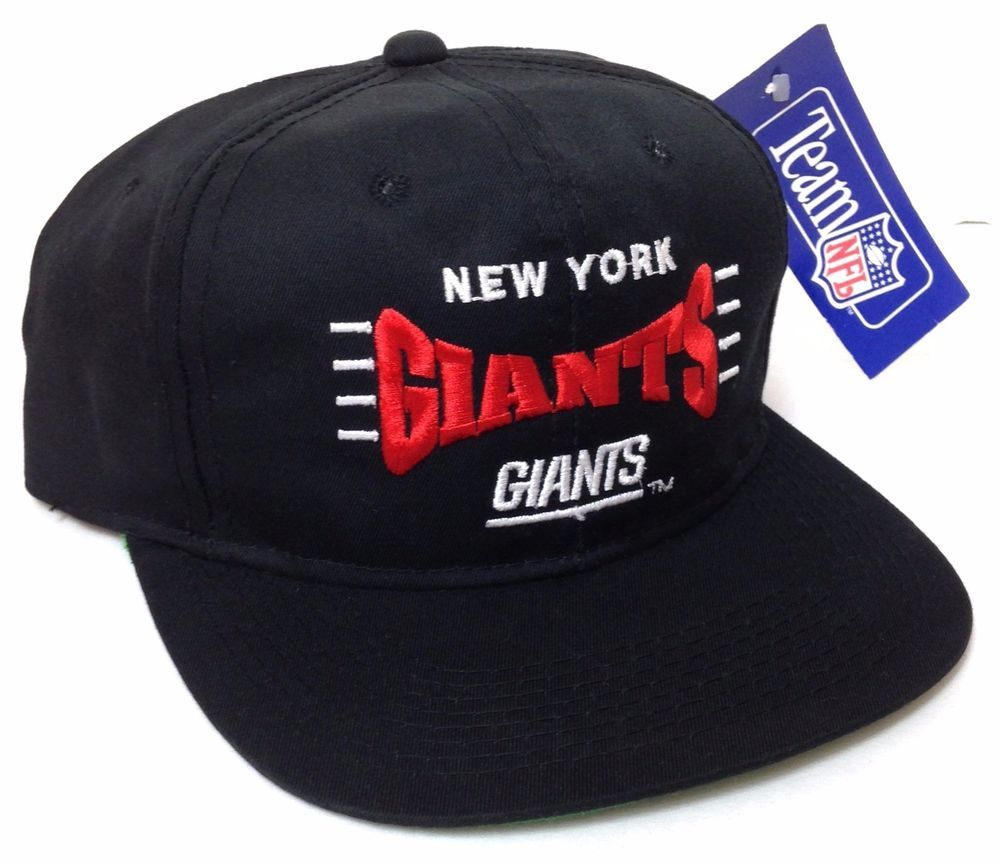 NOS rare vtg 90s NEW YORK GIANTS SNAPBACK HAT Black red white Young-An  Men Women  YoungAn  NewYorkGiants 6ce505d0f