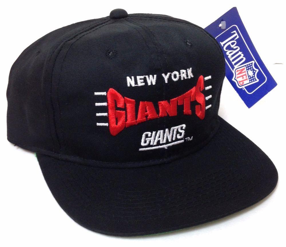 00f5eedd7e7 NOS rare vtg 90s NEW YORK GIANTS SNAPBACK HAT Black red white Young-An  Men Women  YoungAn  NewYorkGiants