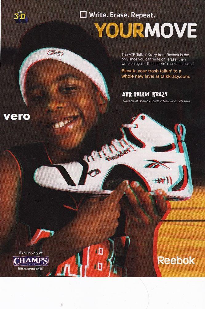 Actuación Mimar Con fecha de  2008 REEBOK magazine ad ATR talkin' kra zyshoes advert print clipping  sneakers | Shoe advertising, Magazine ads, Reebok