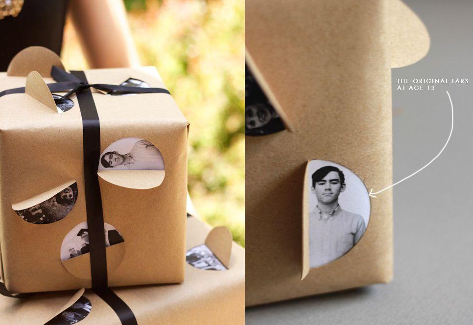 envoltura-con-foto GIFT WRAP Pinterest Como envolver regalos - envoltura de regalos originales
