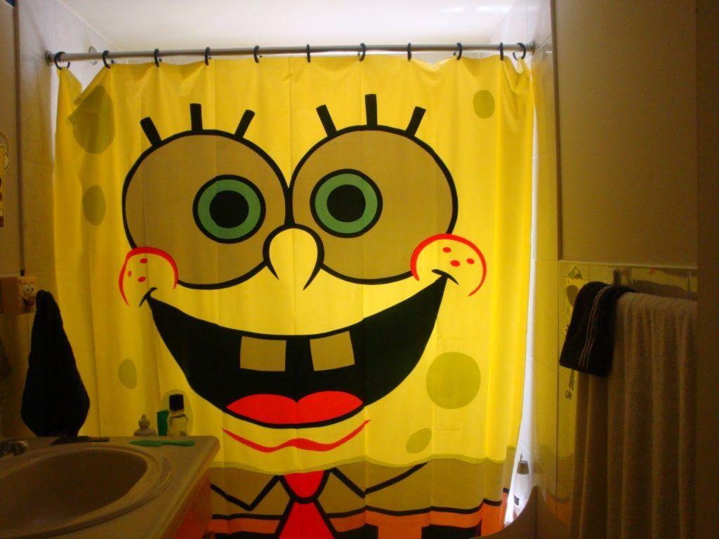 Spongebob shower curtain shower curtain pinterest toilet