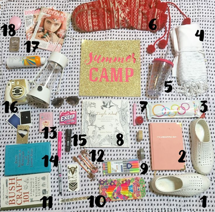 Summer Camp Essentials Care Package Ideas | Camp care ...
