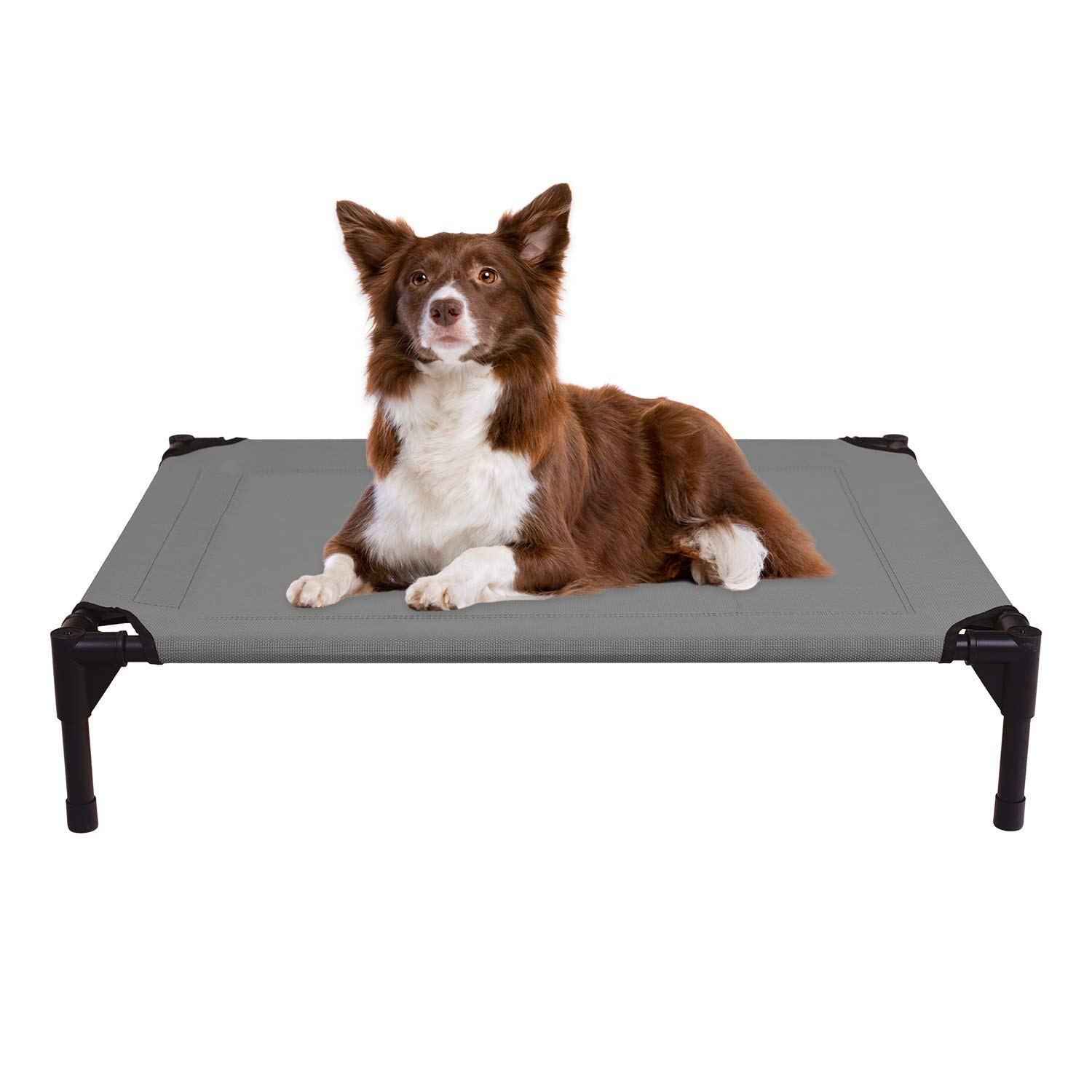 Veehoo Cooling Elevated Dog Bed For Summer Portable Raised Pet