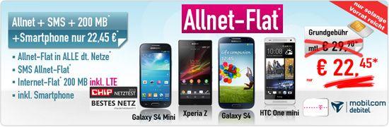 Handy Bomber De Allnet Flat 22 45 Aktion Inkl Smartphone Hammerde Handy Mini