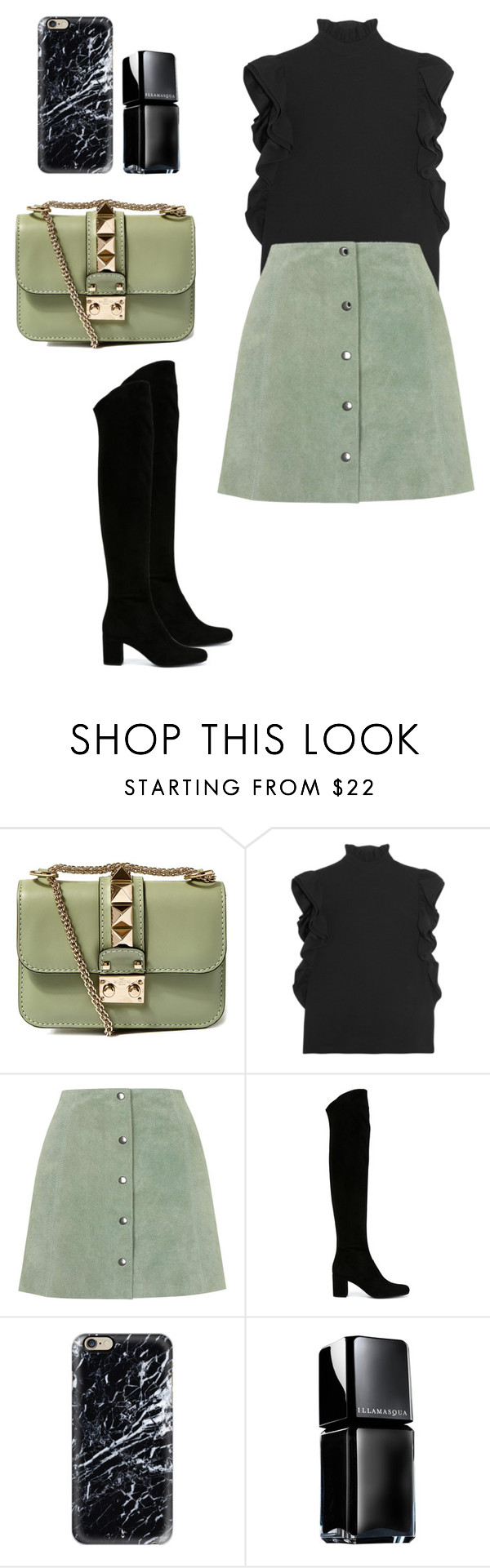 """""""Untitled #374"""" by coockie-and-black-forest-gateaus ❤ liked on Polyvore featuring Valentino, CO, Topshop, Yves Saint Laurent, Casetify, Illamasqua, women's clothing, women, female and woman"""