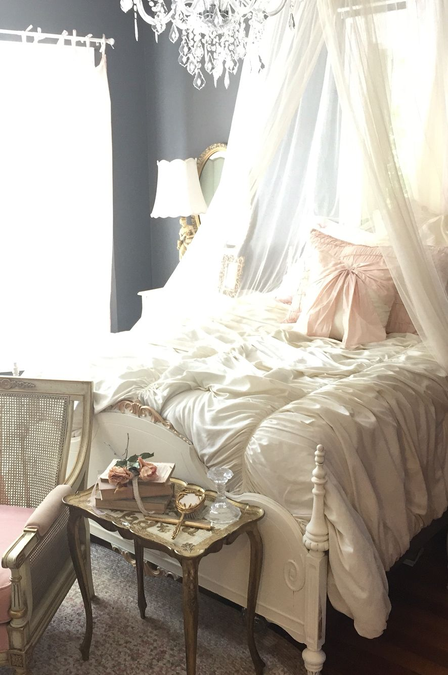 Beautiful Romantic French Country Bedroom With Shabby Chic