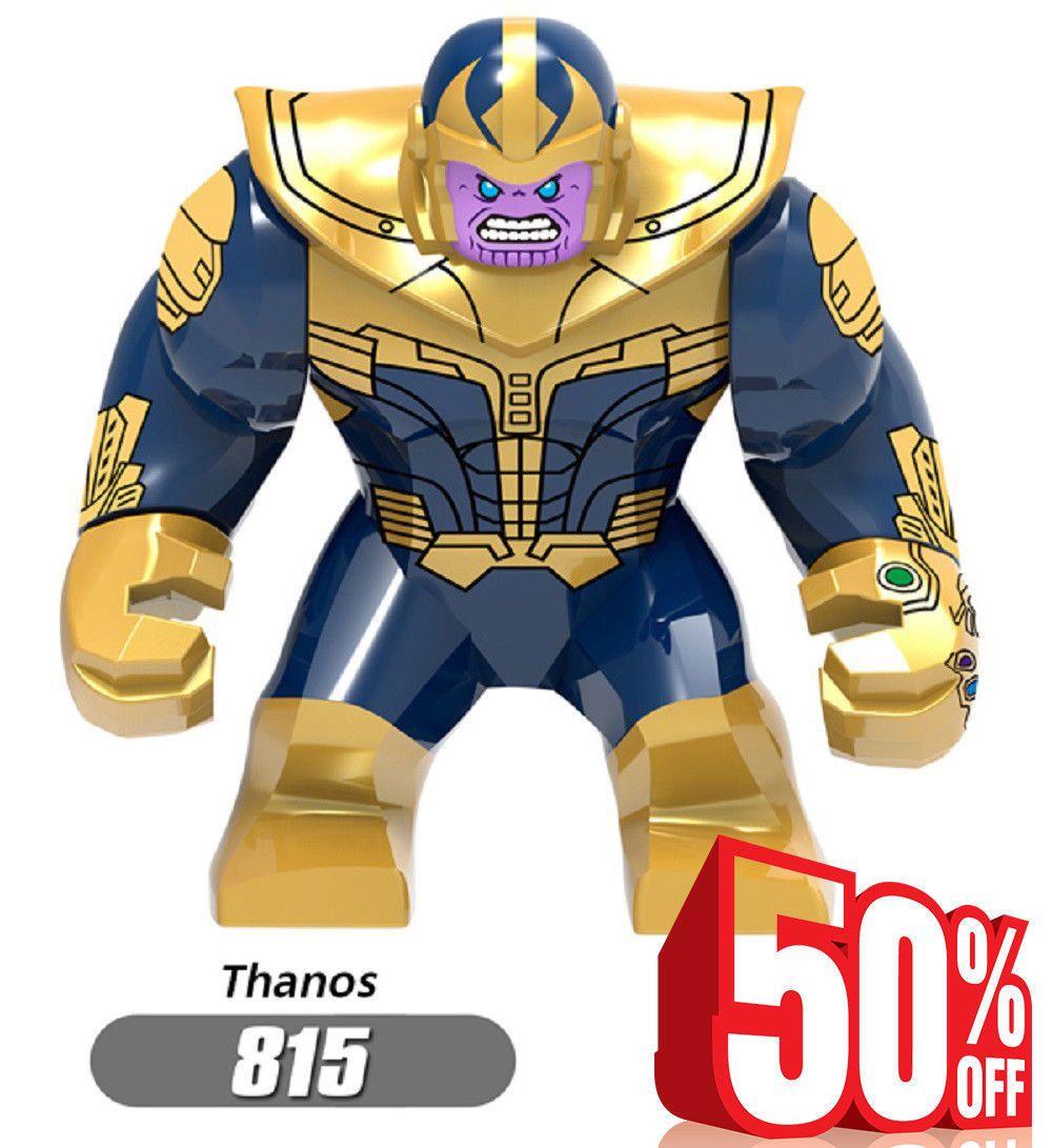 Hot Costum LEGO Infinity War Thanos Minifigure 815 Marvel Avengers Super Heroes