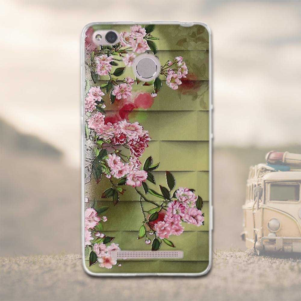 new style 24c43 65613 Case For Xiaomi Redmi 3 Pro 3s Redmi 3s Painting Phone Back Cover ...