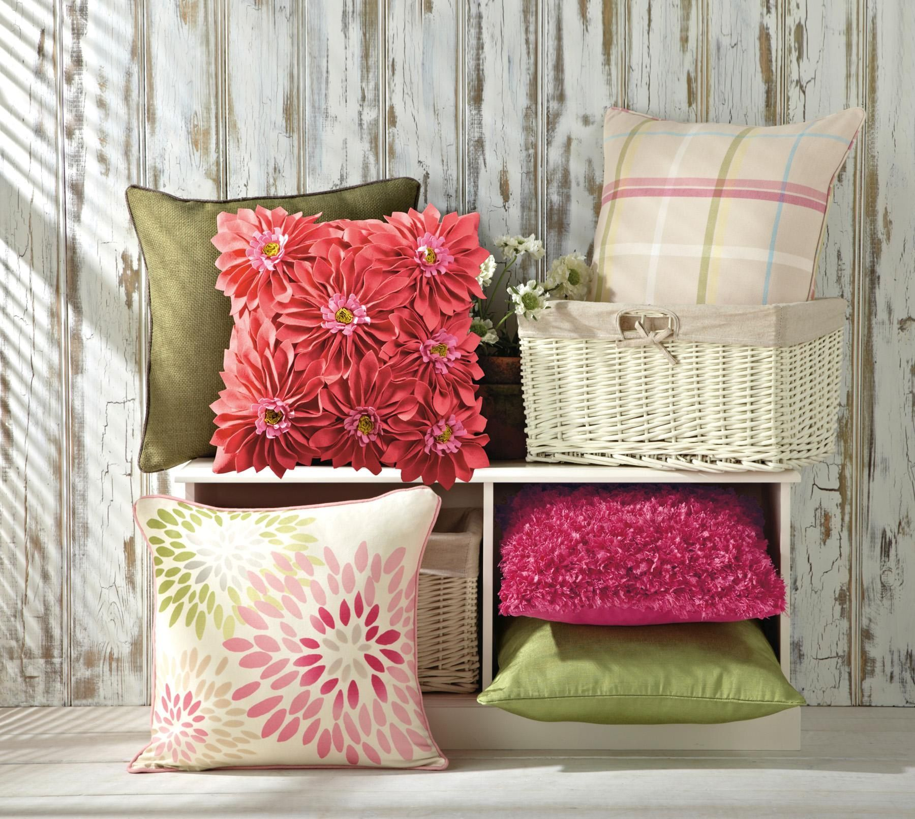 Buy Felt Flower Pink Cushion From The Next Uk Online Shop Home