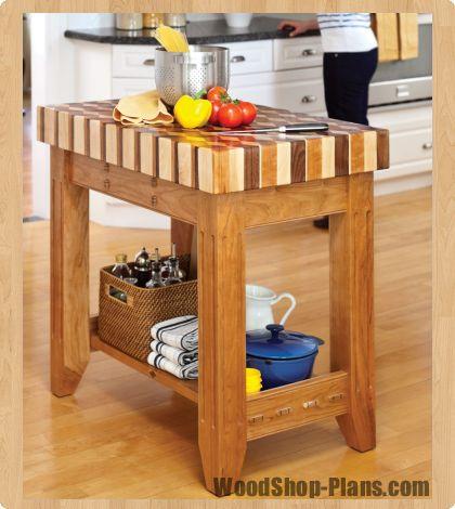 butcher block island woodworking plans diy crafts. Black Bedroom Furniture Sets. Home Design Ideas
