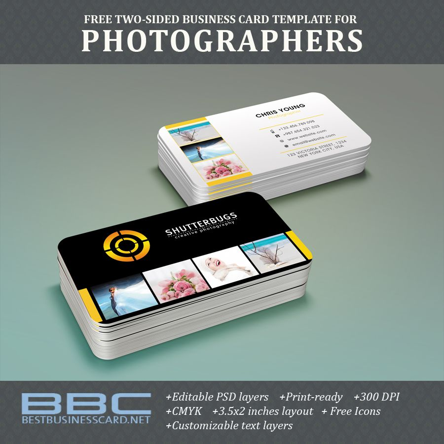 Free two sided business card template for photographers unique free two sided business card template for photographers fbccfo