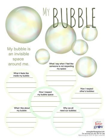 My Bubble - Personal Space   Social Skills in the Autism ...