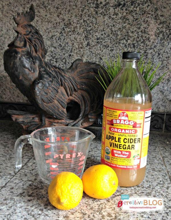 clean microwave vinegar