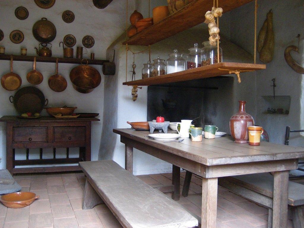 Una cocina al mejor estilo colonial