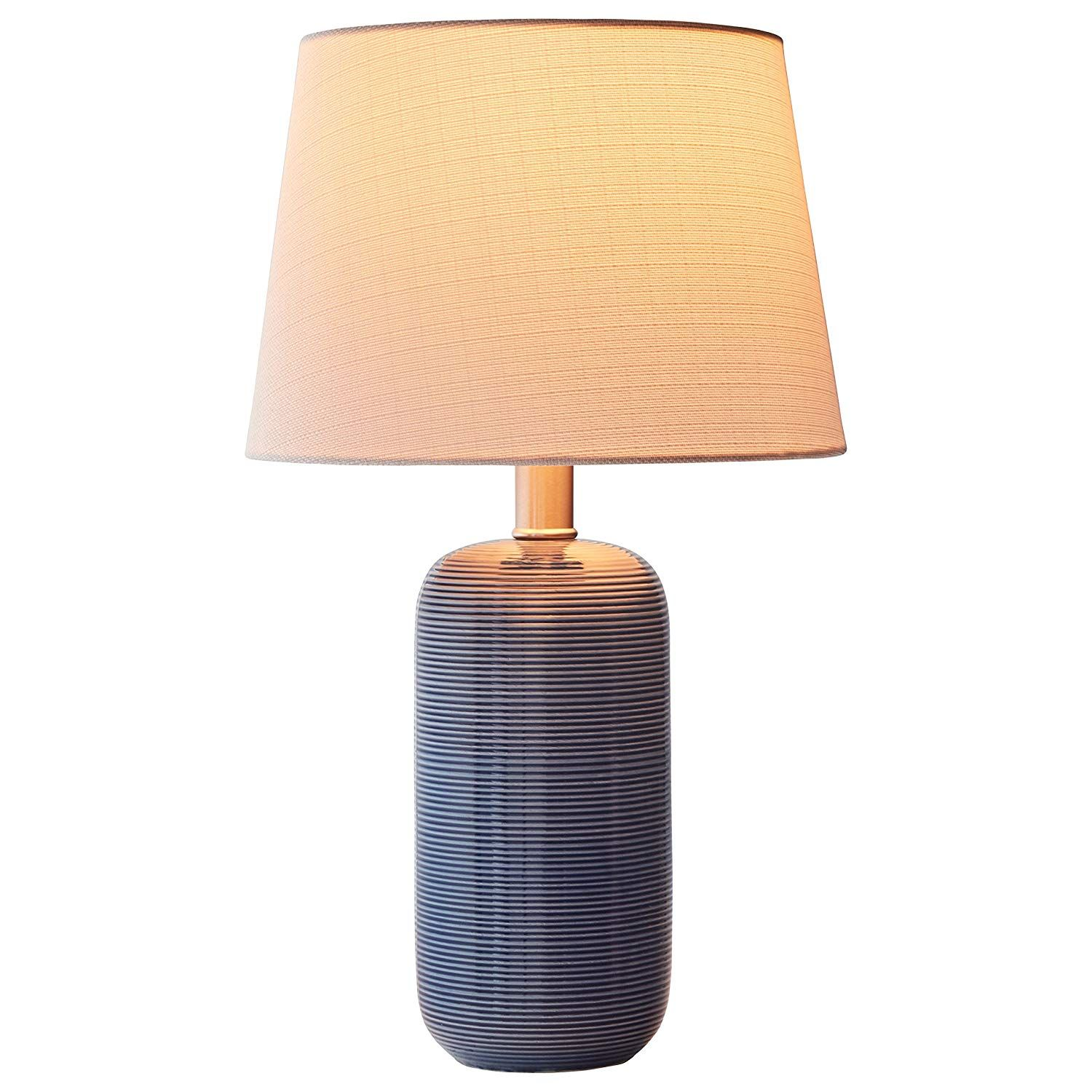 Stone & Beam Leland Modern Textured Table Lamp With Bulb