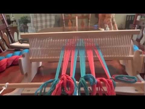Warping Stripes On A Cricket Loom Loom Weaving Cricket Loom Rigid Heddle Weaving